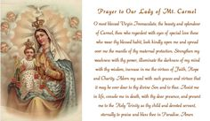 Prayer to Our Lady of Mt. Carmel
