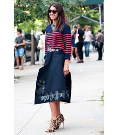 Nautical, with a bit of animal print mixed in! Hey, there's always room for leopard print somewhere.   - MarieClaire.com