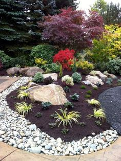 ide de dcoration de jardin zen rockery garden garden beds bonsai garden landscape - Pinterest Jardin