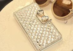 Bling Crystal White PU Leather Case Cover For Xiaomi/Lenovo/ASUS/Moto/BlackBerry #UnbrandedGeneric
