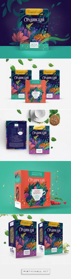 #Herbal #Tea Stravinsky #packaging designed by Dochery - http://www.packagingoftheworld.com/2015/07/herbal-tea-stravinsky.html