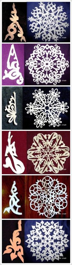 51 ideas for paper art diy kirigami snow flake Paper Snowflake Patterns, Snowflake Template, Paper Snowflakes, Snowflake Designs, Christmas Snowflakes, Christmas Paper, Christmas Crafts For Kids, Holiday Crafts, Christmas Decorations