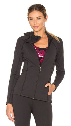 On SALE at 40% OFF! x Kate Spade Neck Bow Jacket by Beyond Yoga. 90% supplex 10% lycra. Zip front closure. Bow front accent. Side welt pockets. BEYR-WM220. SP2083KS. Beyond Yoga is i...