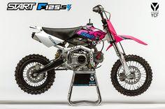 2015 [YCF START F125 SE] ➤ 1449.00€ - Démarreur électrique - Semi-automatique - Poignée de gaz réglable - Joint étanche colonne de direction #MiniWheels #PitBike #ycf #moto #2015