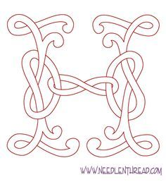 Monogram for hand embroidery - Several designs with the entire alphabet
