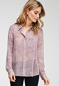 Abstract Floral Chiffon Shirt - New Arrivals - 2000100058 - Forever 21 EU Tops Online Shopping, Floral Chiffon, Chiffon Shirt, Dress Codes, Latest Trends, Forever 21, Tunic Tops, Clothes For Women, My Style