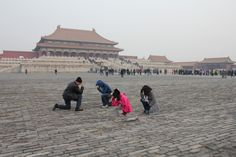 China Supporting Tim with Tebowing in Beijing