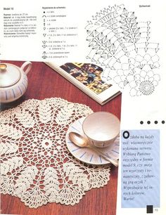 wheat motif doily with chart