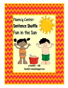 Fluency Center: Sentence Shuffle - Fun in the Sun - aligned with CCSS   $