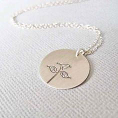 sterling silver bird & treeling necklace necklace
