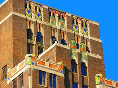 #ArtDeco | Threefoot Building,  Meridian, Mississippi. Designed by Claude H. Lindsley, 1929.