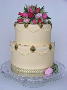 Tulips bouquet cake