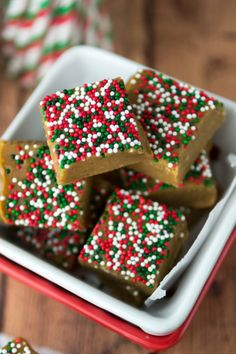 Gingerbread Fudge - tastes like cookie dough! | crazyforcrust.com