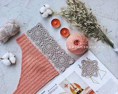 Top Tejidos A Crochet, Crochet Bra, Crochet Woman, Love Crochet, Crochet Motif, Beautiful Crochet, Crochet Clothes, Crochet Patterns, Crochet Beach Dress