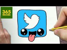 Kawaii Girl Drawings, Cute Little Drawings, Cute Easy Drawings, Drawings To Trace, App Drawings, Cartoon Drawings, Youtube Kawaii, Kawaii App, Snapchat Logo