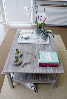 """Pudel-design: My own painted DIY """"driftwood"""" table N°2!  driftwood milk paint"""