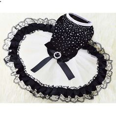 Glitter Bow Lace Dog Cat Tutu Dress Bubble Skirt Pet Clothes Puppy Costume in Spring and Summer XS S M L XL XXL