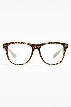 'Tate' Unisex Clear Wayfarer Glasses - Tortoise - 5504-2
