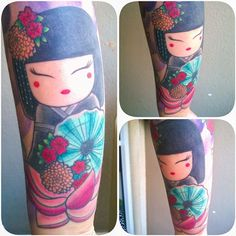 Kokeshi doll tattoo Tatts made by @elisa_nobre .
