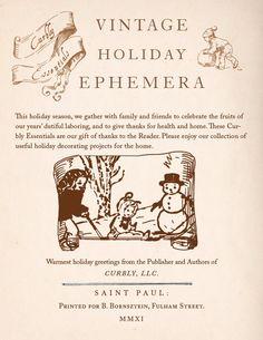 Free vintage holiday ephemera printables!