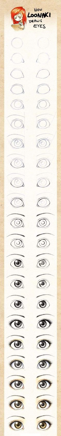 How to draw eyes- I used this and even me who can't draw something good to save my life got a lot of complements on my drawing...