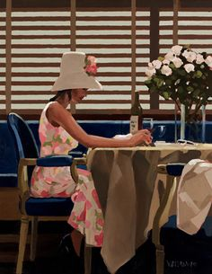Jack Vettriano - Days of Wine & Roses Shown at the Days of Wine & Roses exhibition in 2010 and available as a limited edition print This painting was also featured at the exhibition Homage a Tuiga Jack Vettriano, Edward Hopper, The Singing Butler, Walter Sickert, Pink Martini, Lovers Art, Art For Sale, Artwork, Michael Carter