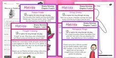 Matilda Drama Activity Ideas - roald dahl, stories, drama, acting