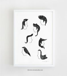 Hairnmals - Art print - ilovedoodle - The visual art of Lim Heng Swee