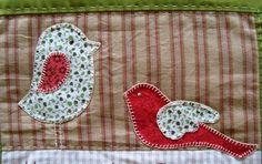 Marion, patchcolagem, passarinhos, craft