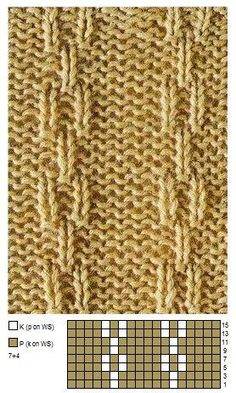 Ketten Strickstich Muster Idee einfache Strick und Purls - Strickmuster You are in the right place about Knitting Techniques website Here we offer you the most beautiful pictures about the Knitting Te Knitting Paterns, Knitting Charts, Easy Knitting, Loom Knitting, Knitting Socks, Knit Patterns, Knitting Projects, Stitch Patterns, Tricot Simple
