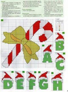 Charts Cross Stitch Christmas Alphabet and a lot of other Christmas Cross Stitch patterns on Blo Cross Stitch Letters, Beaded Cross Stitch, Cross Stitch Embroidery, Christmas Alphabet, Christmas Cross, Cross Stitch Designs, Stitch Patterns, Embroidery Alphabet, Letter A Crafts