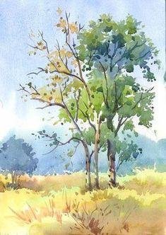 Colour sketch of trees by kios18.deviantart.com on @deviantART