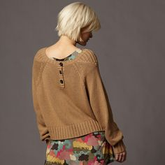 Fossil Fay Sweater $68 (ps. cute haircut!)