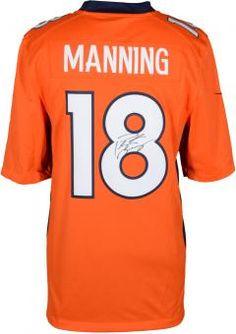 Peyton Manning Denver Broncos Autographed Nike Limited Orange Jersey $599.99 #nfl