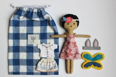 doll  outfits and accessories set by LittleCabinHandmade on Etsy, $68.00