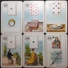 c1920's Dondorf Lenormand Cartomancy Antique Fortune Telling Playing Cards 36/36 | eBay