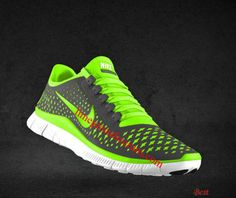 6647a855f218 Cheapest Mens Nike Free 3.0 V4 Dark Grey Electric Green Wolf Grey  Fluorescent Green Lace Shoes
