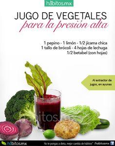 jugo de vegetales para la presion alta