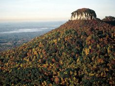 Pilot Mountain, NC...You can see it as far as PTI airport in Greensboro...and you can see it a few blocks from our home...Also known as Mount Pilot if you ever followed the Andy Griffith show....