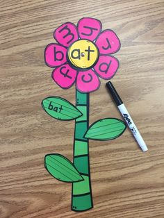 This word family includes 20 cvc and ccvc spinning flowers. Your students will love spinning the center to make, read, and write new words!