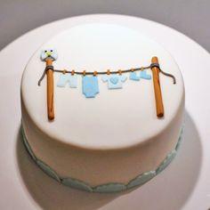 Tort na baby shower dla chłopczyka