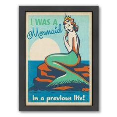 Americanflat Mermaid Queen Framed Graphic Art & Reviews | Wayfair
