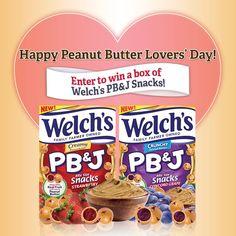 Saving 4 A Sunny Day: Win New Welch's PB&J Snacks