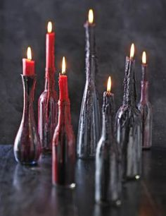 DIY Creepy Candlesticks #diy #crafts #halloween #candles #candlesticks #wax