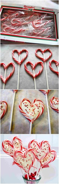 These are the cutest, and if you hoard some candy canes you can use this or #valentines #candycanes #treats