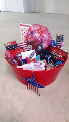 4th Of July Gift Basket 4th Of July Summer T