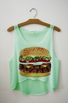 I would wear this when I train people. Make this sick so they can hate the site of a hamburger. :)
