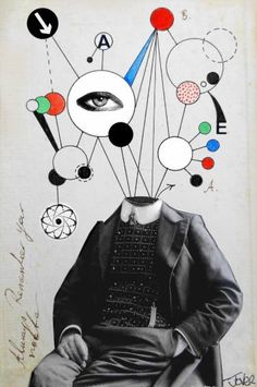 """""""A Simple Man,"""" surreal collage by Loui Jover Photography Collage, Paint Photography, Collage Design, Collage Art, Illustrations, Illustration Art, Collages, Surrealist Collage, Collage Techniques"""