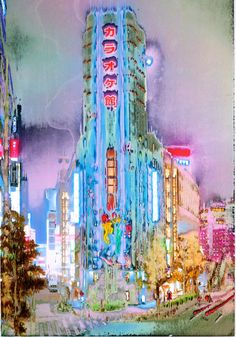 jpeg Photos of Tokyo by Jean-Vincent Simonet. Simonet prints his photos onto plastic paper then washes the them with chemicals, creating warped images that echo the near-psychedelic experience of Tokyo at night. Jean Vincent, Psychedelic Experience, Japanese Photography, Galleries In London, Design Graphique, Photo Projects, Art Design, Community Art, Aesthetic Art