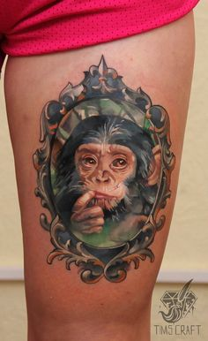 Not a bit fond of monkeys but, the artistry is excellent.